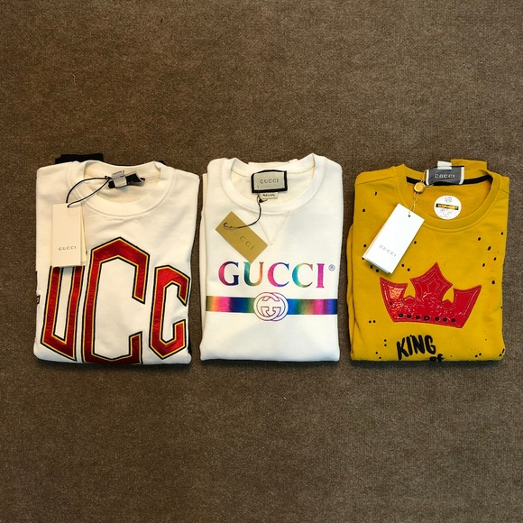 Other - Gucci Set of 3 Single Price Sweatshirt ''M'' NWT